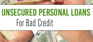 bad credit unsecured personal loans